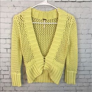⚜️Yellow Cardigan By Free People