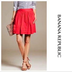 Banana Republic Red Full Circle Skirt