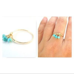 Turquoise dangle Ring