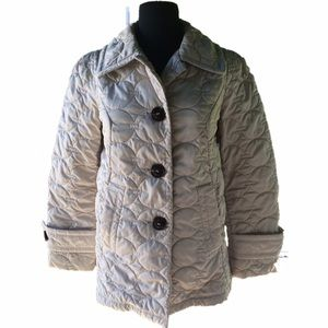 Laundry by Design Jackets & Blazers - Laundry by Design Quilted Puffer Coat off white