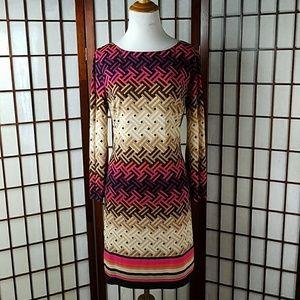 Eliza J Dresses & Skirts - Eliza J Geometric Zip Up Back Lined Dress