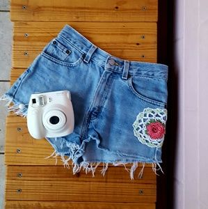 SIZE GIRLS 14 LEVIS HIGH WAISTED JEAN SHORTS