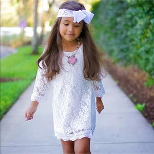 Dresses & Skirts - 🌺Vintage Lace Dress Flower Girl Dress🌺