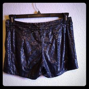 Pants - Black Sequin Hot pants