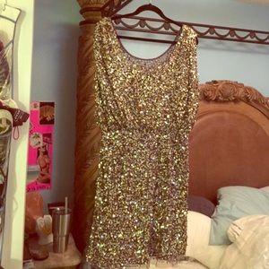 Aidan Mattox Dresses & Skirts - Gold sequin mini dress