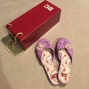 BC Footwear Shoes - BC lavender knit flat size 6.5