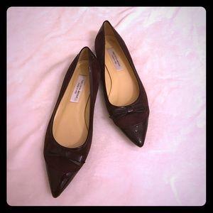 Saks Fifth Avenue Shoes - Saks fifth avenue wine color flats