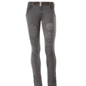 Freddy Denim - Brand new grey/dark Freddy ripped jeans