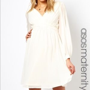 ASOS Maternity Dresses & Skirts - NEW ASOS Maternity dress IVORY US 8 baby shower
