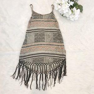 Cleobella Dresses & Skirts - Cleobella Sadira Fringe Dress Woodblock