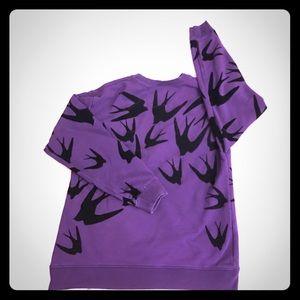Alexander McQueen Tops - Alexander McQueen Purple Sweatshirt