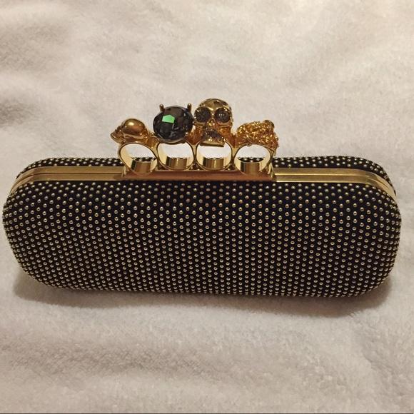 3f950ce1659e2 Alexander McQueen Bags | Knuckle Clutch Box Bag Black | Poshmark