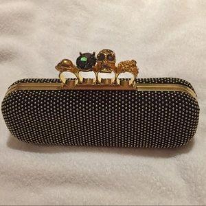 Alexander McQueen Handbags - Alexander McQueen knuckle clutch box bag black