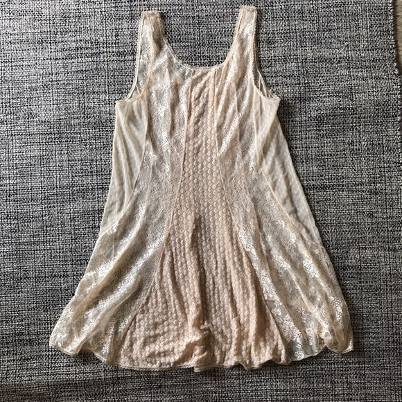 5e2fcc740869 Free People Other - Free people cream/ beige lace slip dress size S