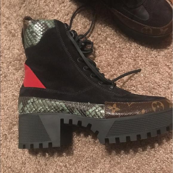 dd0cdb0a32dd Louis Vuitton Shoes - Louis Vuitton Poker Face Platform Desert Boots