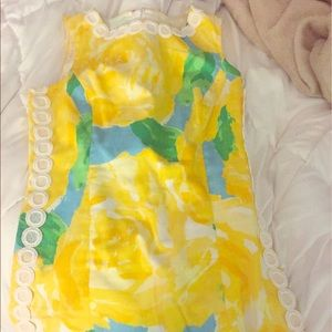 Yellow first impression Lilly print dress
