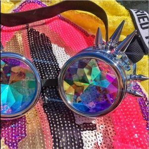trippy spiked kaleidoscope festival goggles