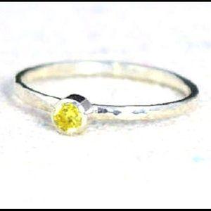 nejd Jewelry - Citrine 925 Sterling Silver ring