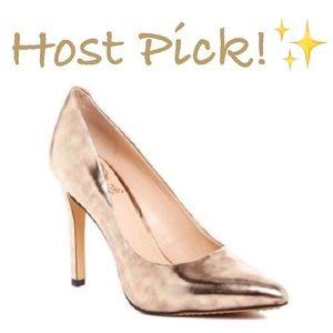 Vince Camuto Shoes - ✨NIB✨ Vince Camuto Kain Bronze Gold Leather Pumps