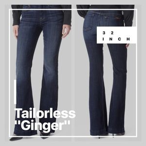 """7 FOR ALL MANKIND """"TAILORLESS"""" GINGER SZ 25"""