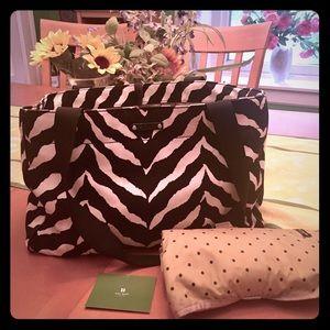 Kate Spade black and white zebra diaper bag