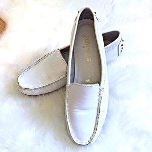 St. John's Bay Shoes - St. John's Bay White Leather Loafers