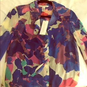 Diane Von Furstenberg button-down blouse