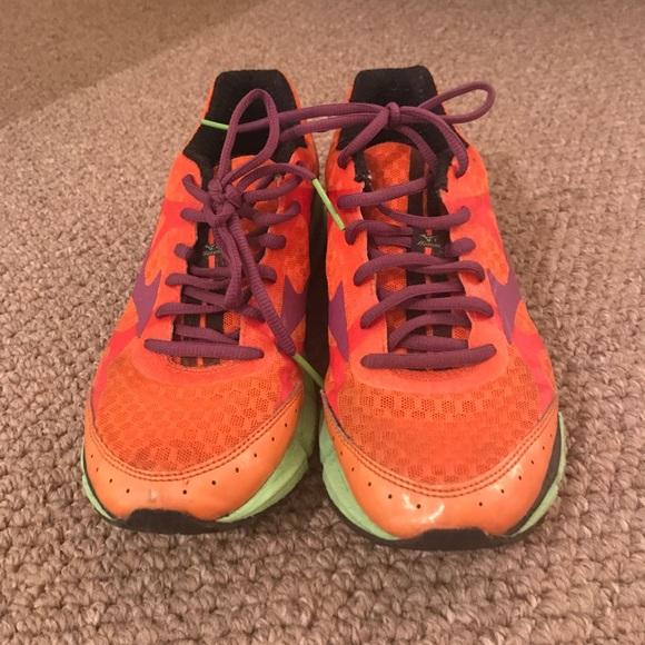 Mizuno Shoes   Orange Purple And Green