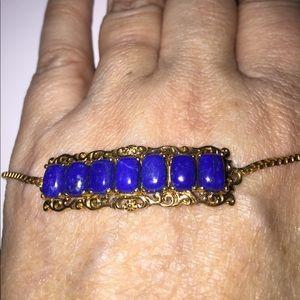 Magic Ball Bracelets Jewelry - Deep  Blue  Rich Lapis Lazuli Bar Bracelet