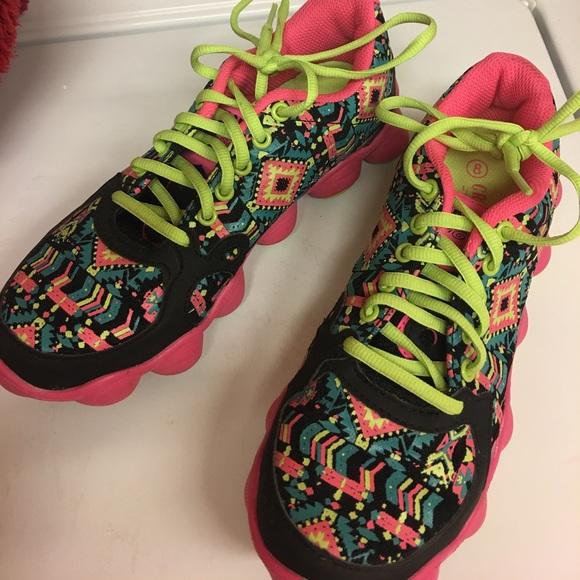 Crazy Train Aztec Tennis Shoes