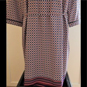 Merona Tops - Merona Red and Blue Printed Tunic Top Sz XXL