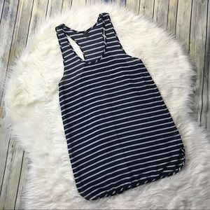 J. Crew Navy Gauze Striped Tank Dress Cover Up