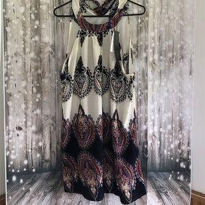 Zanzea Dresses & Skirts - Sleeveless halter boho floral mini dress xl