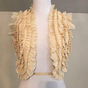 'Kimichi Blue' Cream Ruffle Vest
