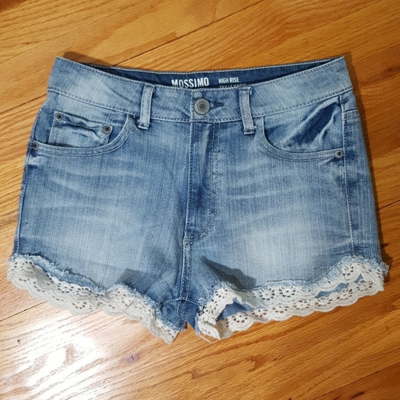 b2e8f87a5 Mossimo Supply Co. Shorts | Mossimo High Waisted Jean Crochet Trim ...