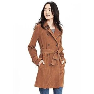 Banana Republic Tan Suede Trench