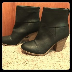 143 Girl Shoes - Black faux leather booties- never worn- NWT