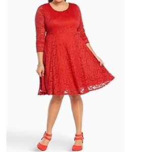 torrid Dresses & Skirts - Torrid Red Laced Dress NWT