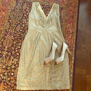 Monsoon Dresses & Skirts - Super fun gold sequin party dress