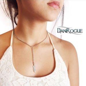 Dani Rogue Jewelry - Feather Adorned Silver Choker
