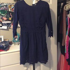 Francesca's Collections Dresses & Skirts - Dolce Vita Blue Lace Dress