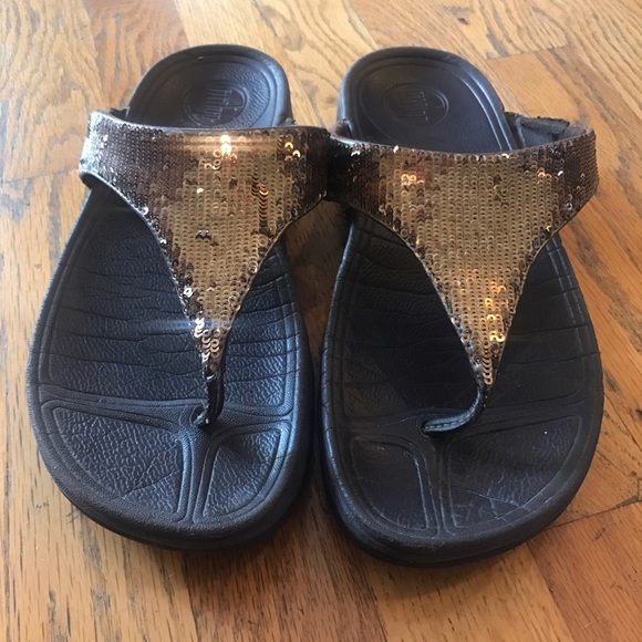 7b71f380ee0 Fitflops  electra  brown sequin! M 5924503a13302a6d96005551