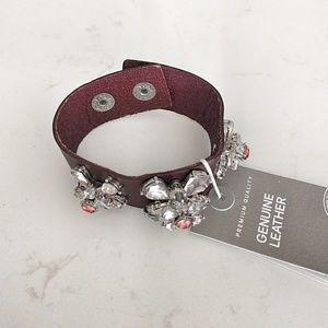 H&M leather bracelet, NWT