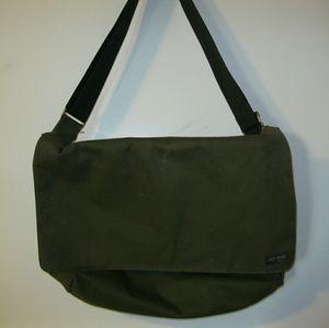 Jack Spade Other - JACK SPADE Messenger Bag - Olive w/ Orange interio