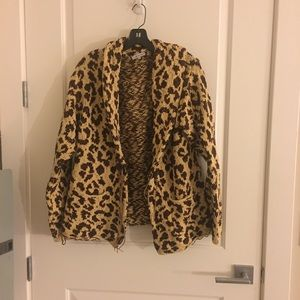 Surface to Air Sweaters - surface to air 1 small s m leopard sweater shrug t