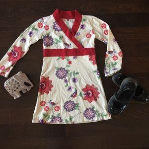 Tea Collection Other - Tea Sz 5Kimono Style Cotton Dress Asian/Bird Print
