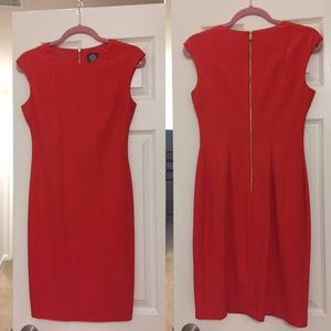 Vince Camuto Dresses & Skirts - Authentic Vince Camuto Orange Dress with Zipper