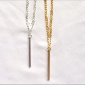 Bar Choker Necklace Silver and Gold Available!