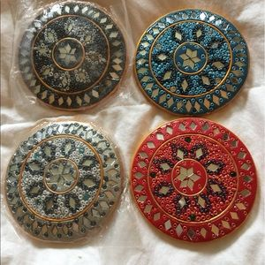 Other - 4 Beautiful Made India Purse Mirror Micro Mosaic