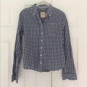 Hollister checkered button up shirt